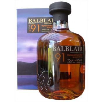 Balblair 1991 3rd Release Single Malt Whisky