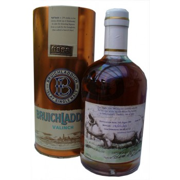 Bruichladdich 1988 Valinch 50cl Middle White Pig Society Label Single Malt Whisky