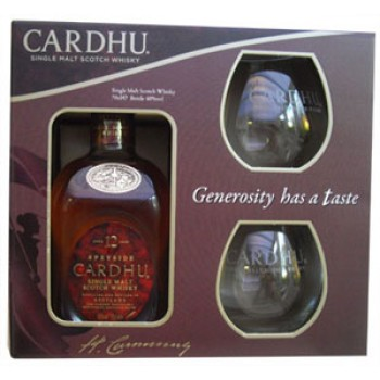 Cardhu 12 Year Old  With Two Glasses Single Malt Whisky