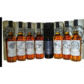 Game of Thrones Whisky Collection Eight 700ml Bottles Single Malt Whiskies
