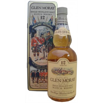 Glen Moray 12 Year Old The Queen's Own Cameron Highlanders Single Malt Whisky