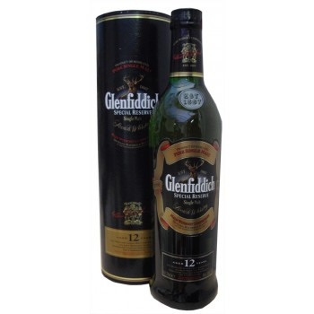 Glenfiddich 12 Year Old Round Tube Single Malt Whisky