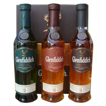 Glenfiddich Triple 3 x 20cl Gift Pack