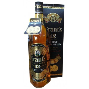 Grants 12 Year Old De Luxe Scotch Whisky 1 Litre