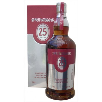 Springbank 25 Year Old 2015 Release Single Malt Whisky