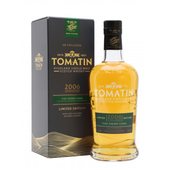Tomatin 2006 13 year Old  Fino Sherry Casks UK Exclusive Single Malt Whisky