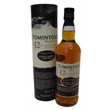 Tomintoul 12 Year Old Oloroso Sherry Cask Finish Single Malt Whi
