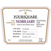 Foursquare Nobiliary Exceptional Cask Selection Single Blended Rum MarkX11