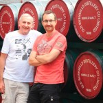 Father and son at Bushmills