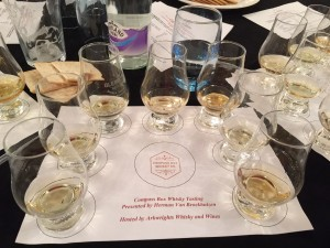 Compass Box whisky tasting mat