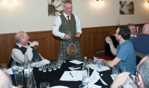 Stewart, David and Kieran discussing the whiskies